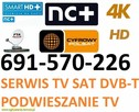 Serwis MONTAŻ anten TV-Sat ,dvb-t podwieszanie tv