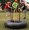 trampolina na dętce