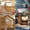 Łóżko domek z barierkami Bella w kolorze różowym 120 x 60 cm - 4