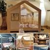 Łóżko domek dla dziecka z barierkami z szufladą - 4