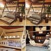 Łóżko domek z barierkami dla dzieci TIPI Oliveo 140 x 70 cm - 3