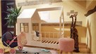 Łóżko domek dla dziewczynki Aster z szufladami naturalne - 3