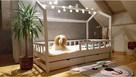 Drewniane łóżko dziecięce Bella z dwoma szufladami Oliveo