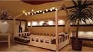 Łóżko domek z barierkami dziecięce Bella 120 x 60 cm - 1