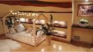 Łóżko domek z barierkami dziecięce Bella 120 x 60 cm - 2