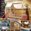 Łóżko domek dla dziewczynki Aster z szufladami naturalne - 5
