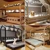 Łóżko domek z barierkami dziecięce Bella 120 x 60 cm - 4