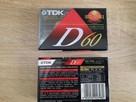 NOWE kasety magnetofonowe- TDK 60 made in Japan Real foto - - 1