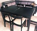 Drewniany stół + 6 krzeseł- do odświeżenia+obrus gratis :)