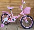 Rower dziecięcy 16 cali Rowerek różowy Ginait Happy