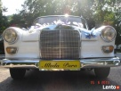 Biały zabytkowy mercedes do ślubu