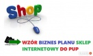 WŁASNY SKLEP INTERNETOWY -Dotacja PUP Biznes plan sklepu int