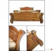 Drewniana Sypialnia 200x200 - różne Kolory - PRODUCENT - 3