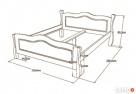 Drewniana Sypialnia 200x200 - różne Kolory - PRODUCENT - 4
