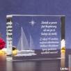 Kryształ »Jacht 3D« w prezencie dla marynarza! - 2