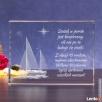 Kryształ »Jacht 3D« w prezencie dla marynarza! - 1