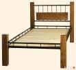 Łóżko metalowo dębowe - 2