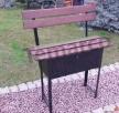 Ławka cmentarna przygrobowa na cmentarz stalowy schowek Mieszkowice