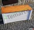 Kufer drewniany dwukolorowy ogrodowy skrzynia drewniana L Mieszkowice