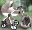 Wózek wielofunkcyjny Moretti + Fotelik samochodowy beżowy .