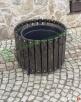 Donica drewniana okrągła doniczka doniczki donice na iglak L Mieszkowice