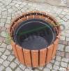 Donica drewniana okrągła doniczka doniczki donice na iglak M Mieszkowice