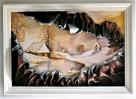 Obraz ze skóry, malowany ręcznie, nowoczesny, na prezent - 8