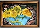 Obraz ze skóry, malowany ręcznie, nowoczesny, na prezent - 7