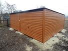 Solidny garaż blaszany 6x5 złoty dąb WSZYSTKIE WYMIARY - 4
