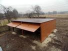 Solidny garaż blaszany 6x5 złoty dąb WSZYSTKIE WYMIARY - 6