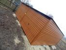 Solidny garaż blaszany 6x5 złoty dąb WSZYSTKIE WYMIARY - 5