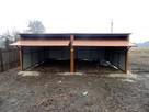 Solidny garaż blaszany 6x5 złoty dąb WSZYSTKIE WYMIARY - 3
