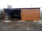 Solidny garaż blaszany 6x5 złoty dąb WSZYSTKIE WYMIARY - 2
