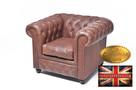 Chestrefield sofa skorzana Braz Vintage - 5