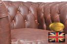 Chestrefield sofa skorzana Braz Vintage - 2