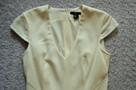 Sukienka z krótkim rękawem  écru  S   H&M - 3