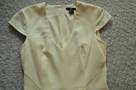 Sukienka z krótkim rękawem  écru  S   H&M - 2