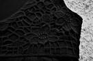 Czarna sukienka z koronką  38  ZERO - 3