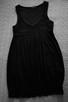 Czarna sukienka z koronką  38  ZERO - 1