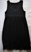 Czarna sukienka z koronką  38  ZERO - 6