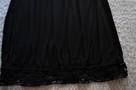 Czarna sukienka z koronką  38  ZERO - 7