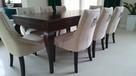 Pikowane glamour hampton nowe eleganckie krzesło z kołatką