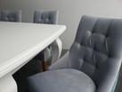 Pikowane pinezkami krzesło z kołatką tapicerowane hampton - 4