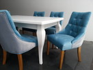 Pikowane pinezkami krzesło z kołatką tapicerowane hampton - 2