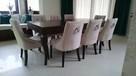 Eleganckie nowoczesne krzesło z kołatką tapicerowane modne - 4