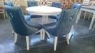 Nowoczesne krzesło z kołatką pikowane hampton producent