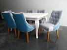 Pikowane pinezkami krzesło z kołatką tapicerowane hampton - 3