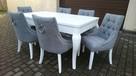 Krzesło pikowane tapicerowane z kołatką producent modne