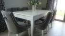 Eleganckie nowoczesne krzesło z kołatką tapicerowane modne - 5