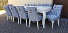 Krzesło z kołatką pikowane tapicerowane modne wygodne nowe